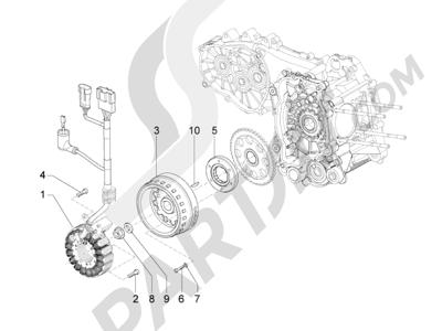 Piaggio MP3 500 RL Sport - Business 2011-2012 Volante magnetico