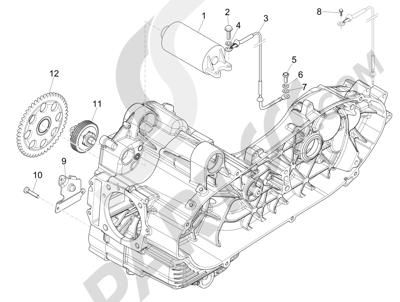 Piaggio MP3 500 Sport ABS (USA) 2015 Arranque - Arranque electrico