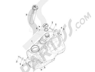 Piaggio MP3 500 Sport ABS (USA) 2015 Depósito carburante