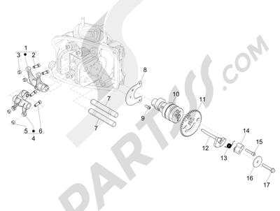 Piaggio MP3 500 Sport ABS (USA) 2015 Grupo soporte balancines