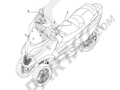 Piaggio MP3 500 Sport ABS (USA) 2015 Retrovisor es