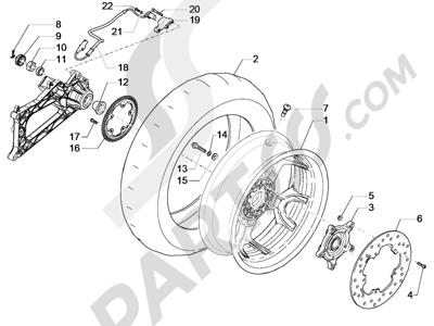 Piaggio MP3 500 Sport ABS (USA) 2015 Roda belakang