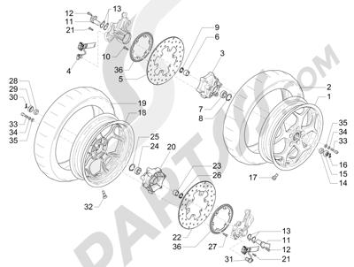 Piaggio MP3 500 Sport ABS (USA) 2015 Roda depan