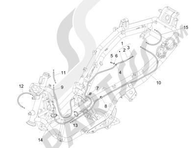 Piaggio MP3 500 Sport ABS (USA) 2015 Transmisi