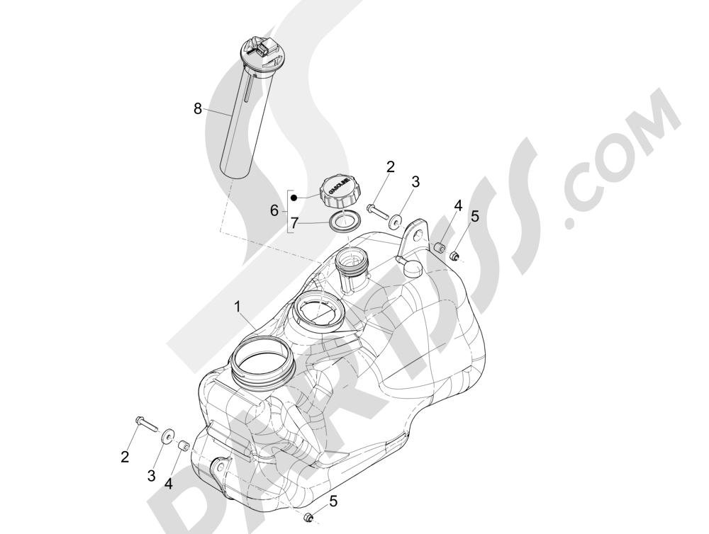 Depósito carburante Piaggio MP3 500 Sport ABS (USA) 2015