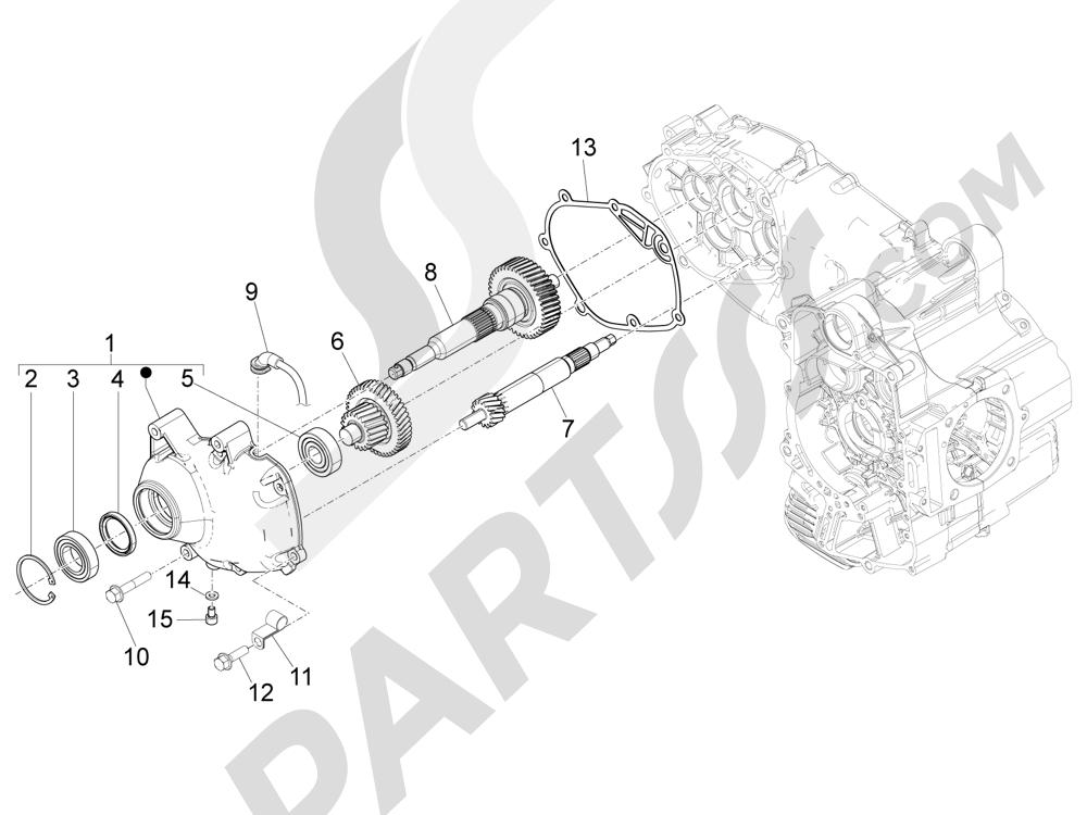 Grupo reductor Piaggio MP3 500 Sport ABS (USA) 2015
