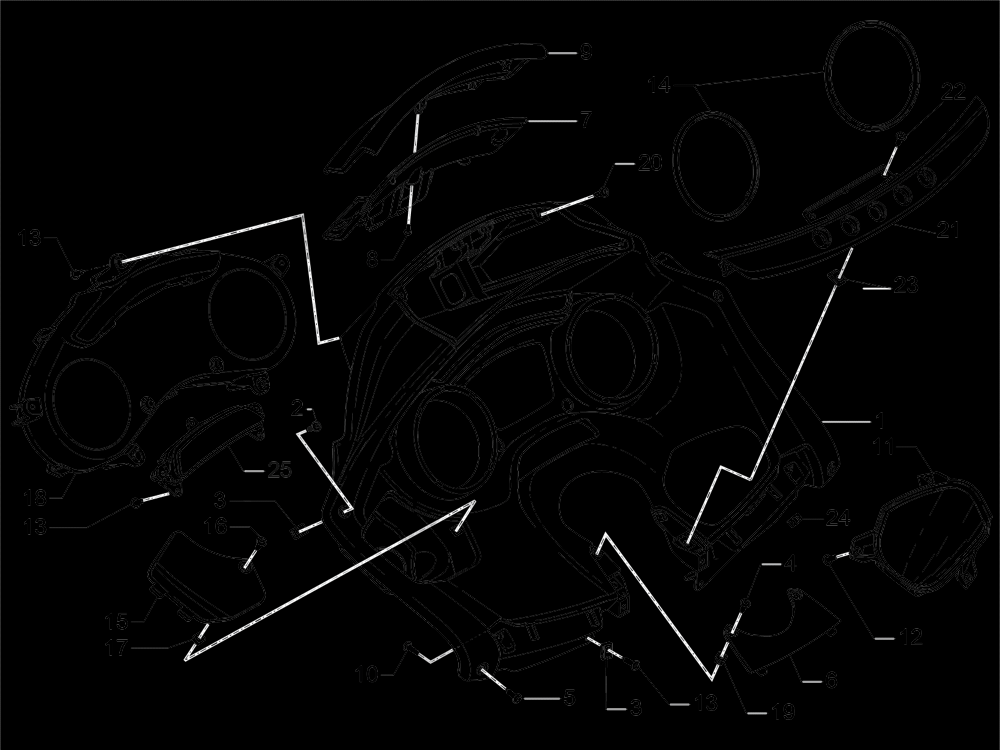 Kombinasi meter - Cruscotto Piaggio MP3 500 Sport ABS (USA) 2015