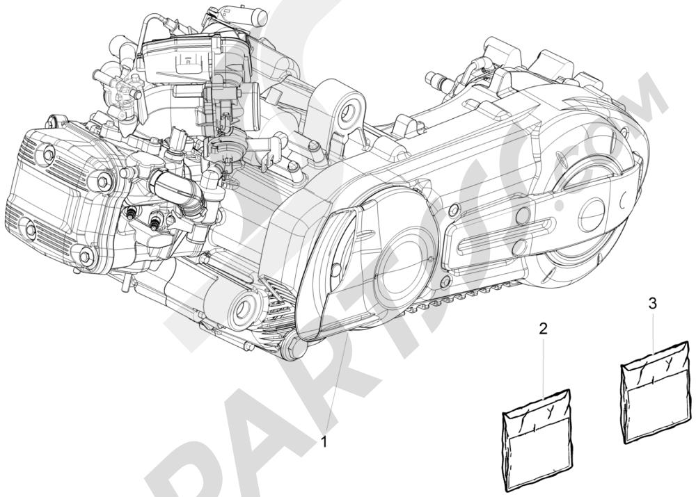Motor completo Piaggio MP3 500 Sport ABS (USA) 2015