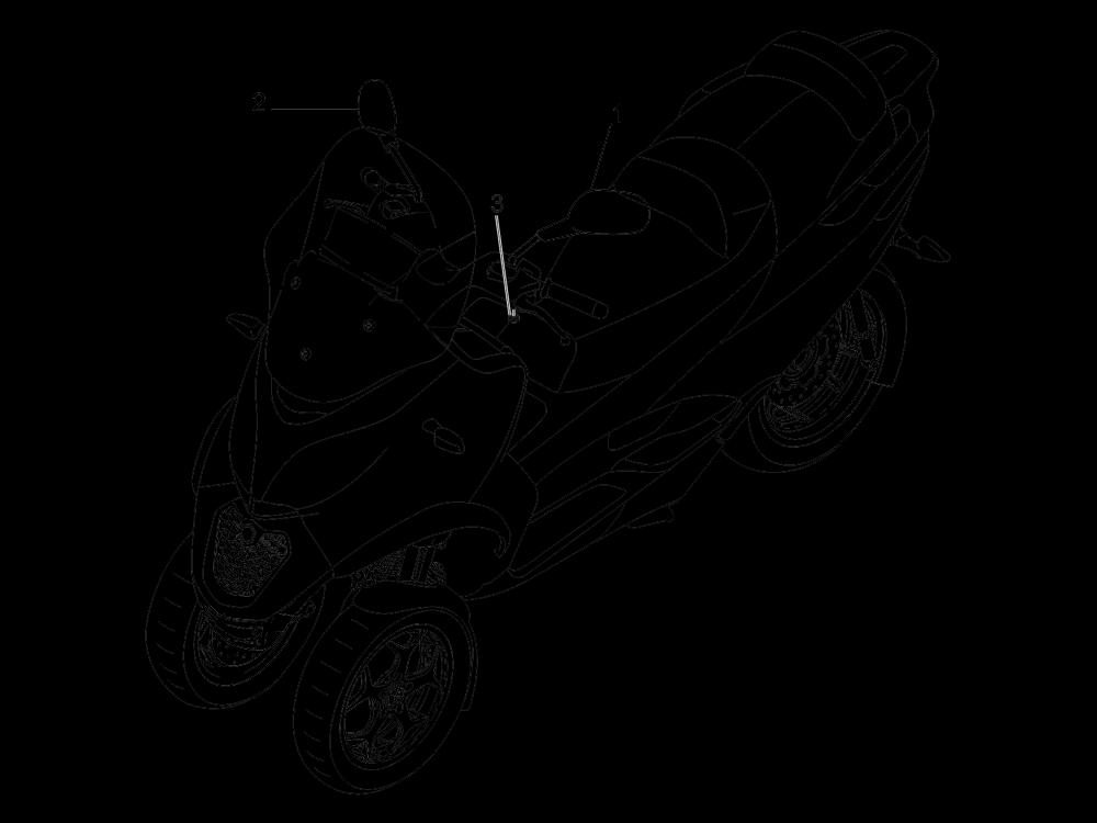 Retrovisor es Piaggio MP3 500 Sport ABS (USA) 2015