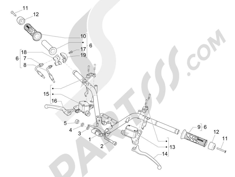 Setang - Silinder utama Piaggio MP3 500 Sport ABS (USA) 2015