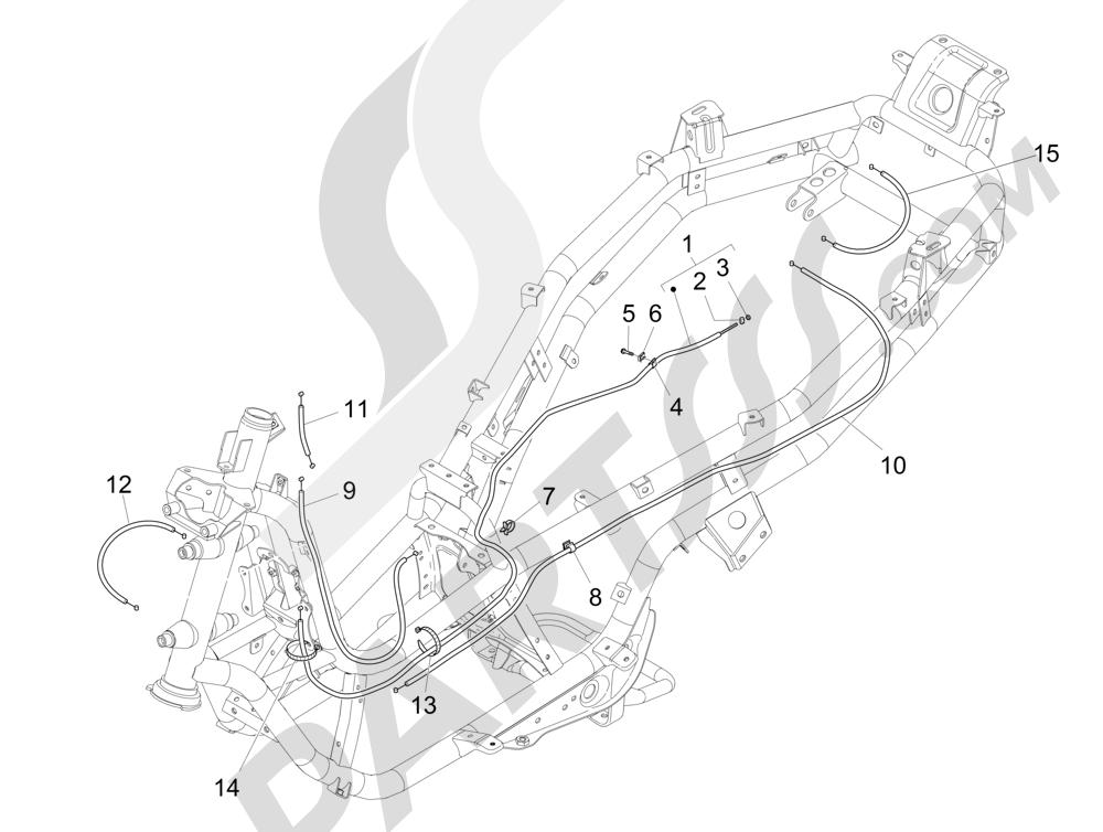 Transmisi Piaggio MP3 500 Sport ABS (USA) 2015