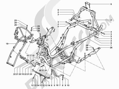 Piaggio MP3 500 Tourer (USA) 2010 Chasis carrocería