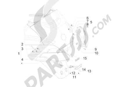 Piaggio MP3 500 Tourer (USA) 2010 Faros traseros - Indicadores de dirección