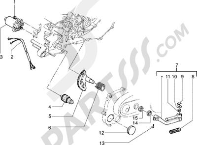 Piaggio NRG Extreme 1998-2005 Motor de arranque-Palanca de arranque