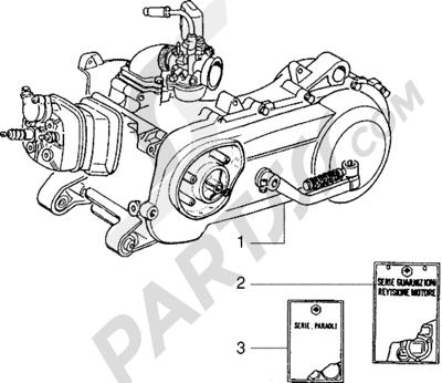 Piaggio NRG Extreme 1998-2005 Motor