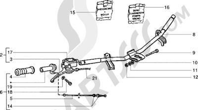 Piaggio NRG Extreme 1998-2005 Piezas que componen el manillar