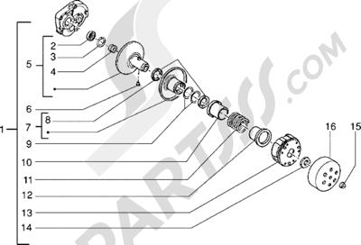 Piaggio NRG Extreme 1998-2005 Polea conducida