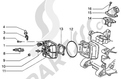 Piaggio NRG MC3 DD 1998-2005 Culata-deflector y racor de admision
