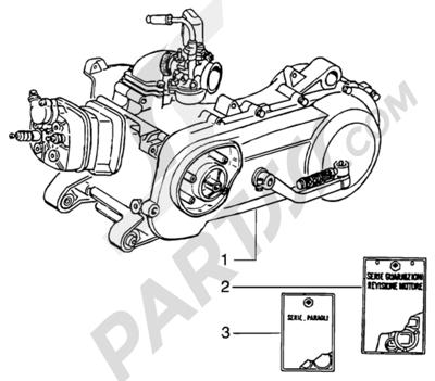 Piaggio NRG MC3 DD 1998-2005 Motor