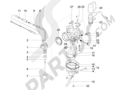 Piaggio NRG Power DD 2007-2015 Componentes de carburador