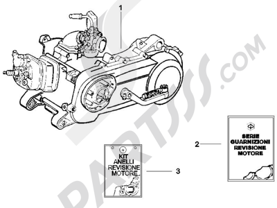 Piaggio NRG Power DD 2007-2015 Motor completo