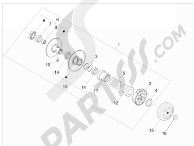 Piaggio NRG Power DD 2007-2015 Polea conducida