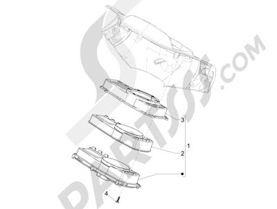 Piaggio NRG Power DD 2007-2015 Tablero de instrumentos - Cruscotto