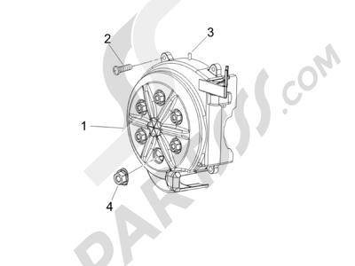 Piaggio NRG Power DD 2007-2015 Tapa volante magnetico - Filtro de aceite