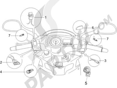 Piaggio NRG Power DD H2O (CH) 2011-2013 Conmutadores - Conmutadores - Pulsadores - Interruptores