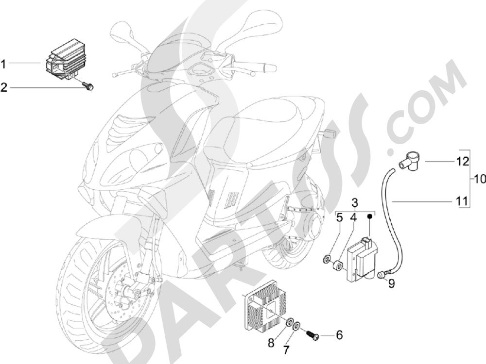 Piaggio NRG Power DD H2O (CH) 2011-2013 Reguladores de tensión - Centralitas electrónicas - Bobina A.T.