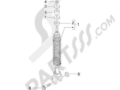 Piaggio NRG Power DD H2O (CH) 2011-2013 Suspensión trasera - Amortiguador es