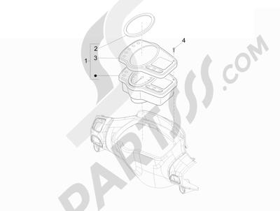 Piaggio NRG Power DD H2O (CH) 2011-2013 Tablero de instrumentos - Cruscotto