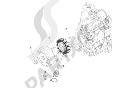 Piaggio NRG Power DD H2O (CH) 2011-2013 Volante magnetico