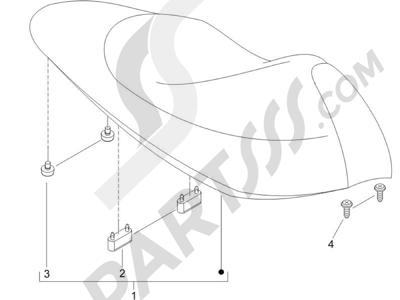 Piaggio NRG Power DD Serie Speciale 2007-2012 Sillín asientos - Bolsa herramienta