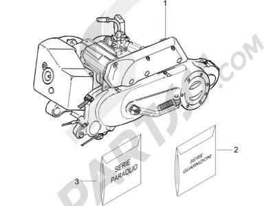 Piaggio NRG Power DT (UK) 2005 Motor completo
