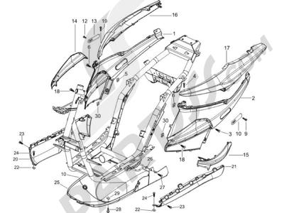 Piaggio NRG Power DT 2006 Cubiertas laterales - Spoiler