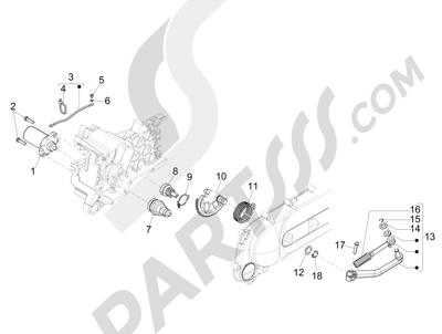 Piaggio NRG Power DT 2007-2015 Arranque - Arranque electrico