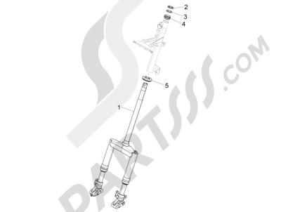 Piaggio NRG Power DT 2007-2015 Fork steering tube - Steering bearing unit