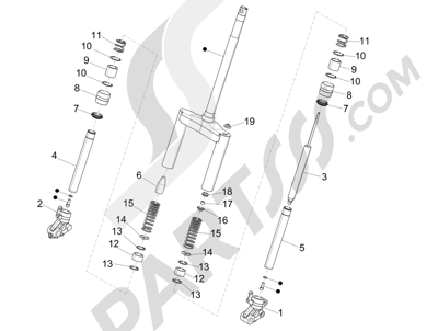 Piaggio NRG Power DT 2007-2015 Fork's components (Wuxi Top)