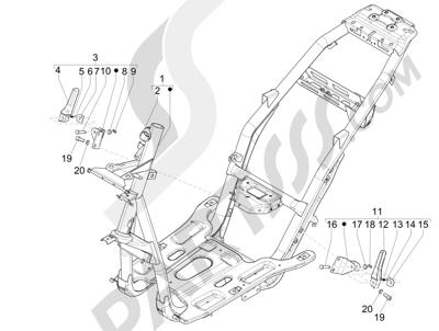 Piaggio NRG Power DT 2007-2015 Frame bodywork