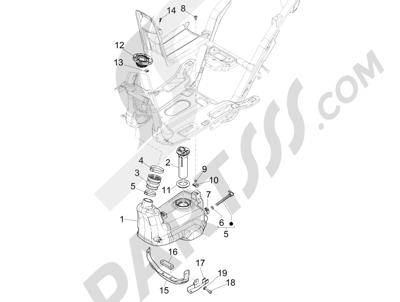 Piaggio NRG Power DT 2007-2015 Fuel tank