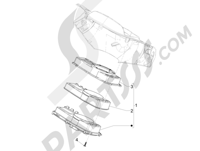 Piaggio NRG Power DT 2007-2015 Meter combination - Cruscotto