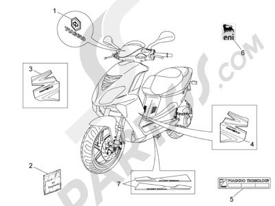 Piaggio NRG Power DT 2007-2015 Plates - Emblems
