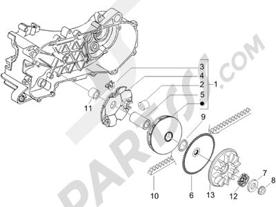 Piaggio NRG Power DT 2007-2015 Polea conductora