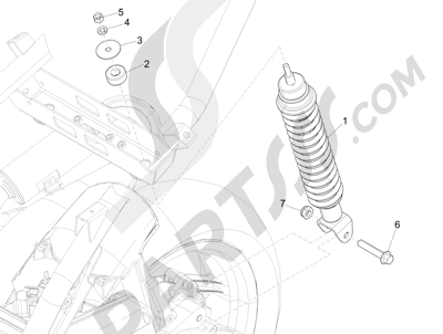 Piaggio NRG Power DT 2007-2015 Rear suspension - Shock absorber s