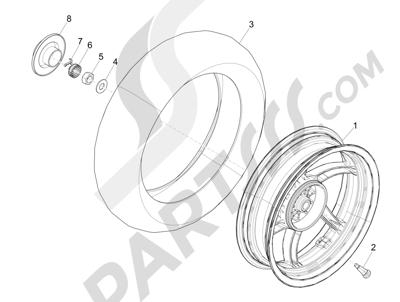 Piaggio NRG Power DT 2007-2015 Rear wheel