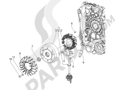 Piaggio NRG Power DT 2007-2015 Volante magnetico