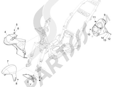 Piaggio NRG Power DT 2007-2015 Wheel huosing - Mudguard
