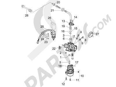 Piaggio NRG Power DT Serie Speciale (D) 2007 Componentes de carburador