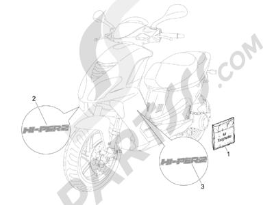 Piaggio NRG Power DT Serie Speciale (D) 2007 Letreros - Escudos